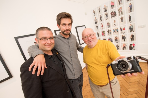 Pictured (L-R) at the launch of the Belfast Self-Portrait exhibition at the Ulster Museum are Timm Sonnenschein, photographer; Dr Kieran Connell, project lead and lecturer in contemporary British history at Queen's University Belfast and Brian Homer, photographer.