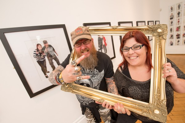 Pictured (L-R) at the launch of the Belfast Self-Portrait exhibition at the Ulster Museum are Paul Bell and Mary-Frances Bell, who participated in the project.
