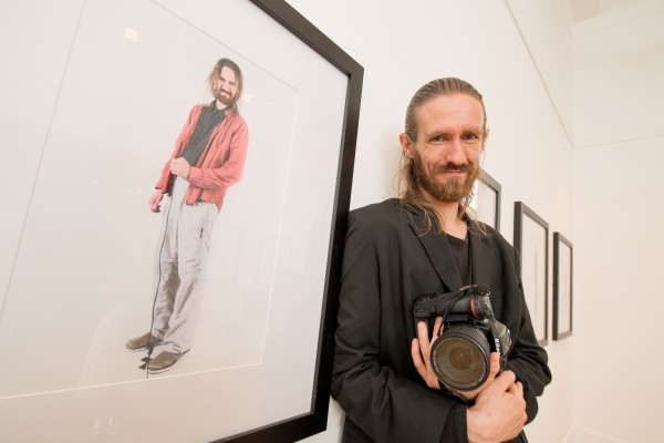 Pictured at the launch of the Belfast Self-Portrait exhibition at the Ulster Museum is Martin Wohlgemuth, who participated in the project.