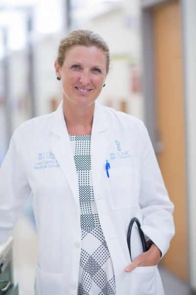 Lisa A. Carey, MD, is physician-in-chief of the N.C. Cancer Hospital, The Richardson and Marilyn Jacobs Preyer Distinguished Professor in Breast Cancer Research, and division chief of hematology/oncology at the UNC School of Medicine.