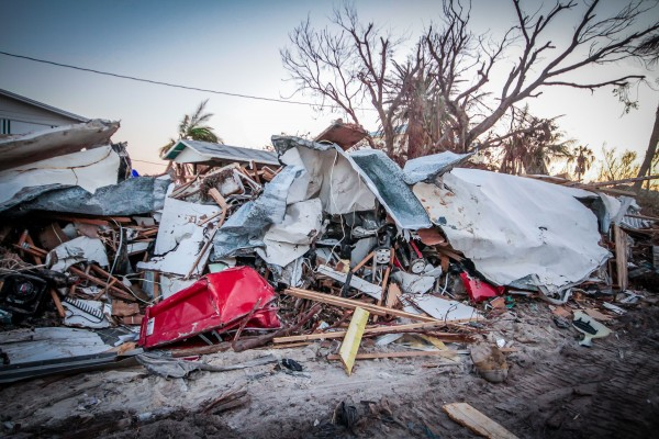 A trailer in Marathon, Florida, the most populated island in the Florida Keys, was destroyed by Hurricane Irma. A new University of Vermont study projects that financial loss could increase more than 70 percent by 2100 if oceans warm at a rate forecast by the Intergovernmental Panel on Climate Change under the panel's worst case scenario.