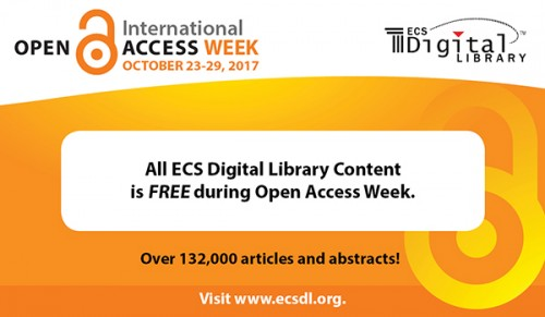 Newswise: ECS Takes Down the Paywall for International Open Access Week