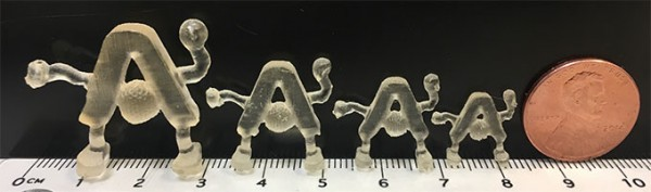 Ames Laboratory has developed a one-step 3D-printing process for catalysts that can be customized to any shape-- in this demonstration the Ames Laboratory logo design.