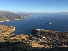 Aerial view of the University of Southern California's Wrigley Marine Science Center on Catalina Island.