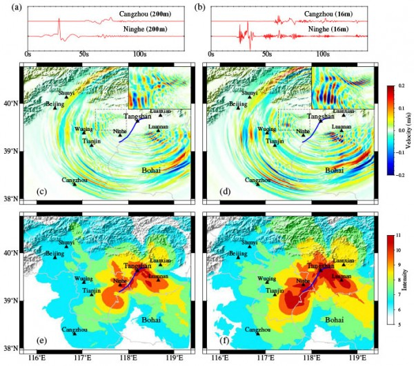 Simulated ground motions of the 1976 Tangshan earthquake that resulted in a 12-member team of Chinese researchers being awarded the 2017 Gordon Bell prize.
