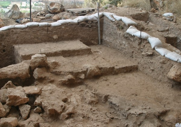 The excavated area where Misliya 1 was found
