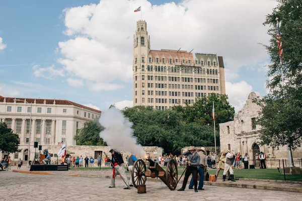 All seven of the cannons used in the 1836 Battle of the Alamo that are on display at the Alamo, such as the one fired during Cannon Fest, are gradually being conserved by the Conservation Research Laboratory at Texas A&M.
