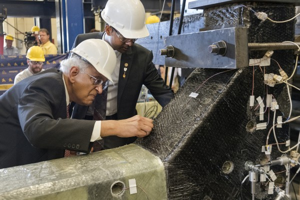 WVU's Hota GangaRao has done extensive research involving the use of composite materials in rehabbing aging infrastructure.