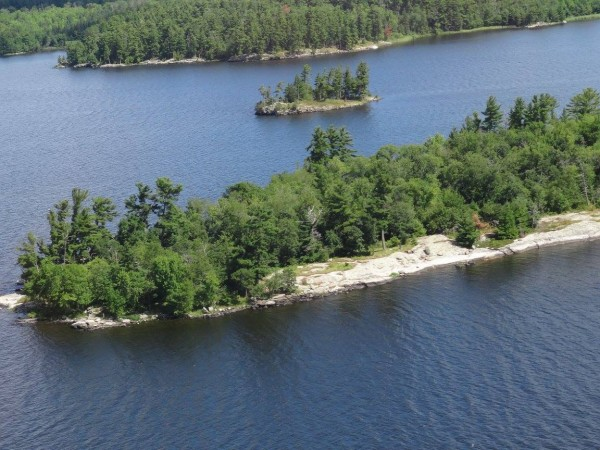 About one-third of the area in Voyageurs National Park is water.