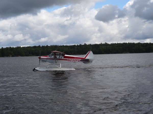 This seaplane was used for repeated aerial surveys of bald eagle nests.