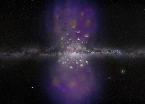 Newswise: Swarm of Hydrogen Clouds Flying Away from Center of Our Galaxy