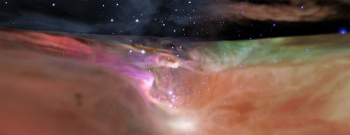 Newswise: NASA Space Telescopes Provide a 3D Journey Through the Orion Nebula