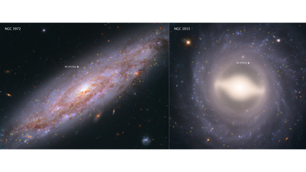 HUBBLE HELPS ASTRONOMERS MEASURE ACCURATE DISTANCES TO GALAXIES. 