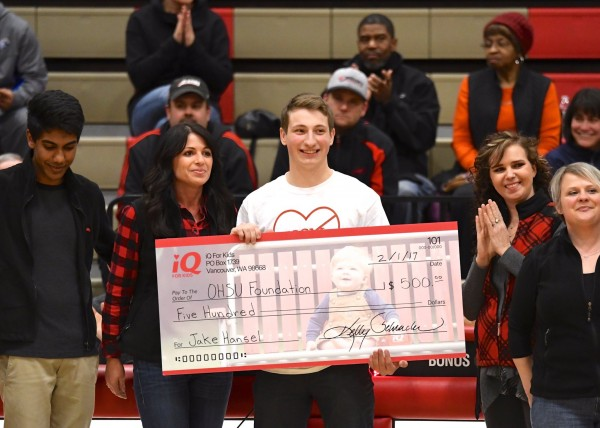 Jake Hansel has raised nearly $17,000 for Oregon Health & Science University's Knight Cardiovascular Institute in Portland.