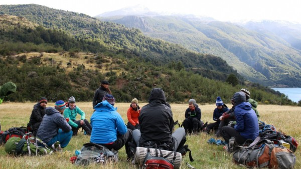 Darden students traveled to the Patagonia region of Chile for a NOLS Experiential Leadership course.
