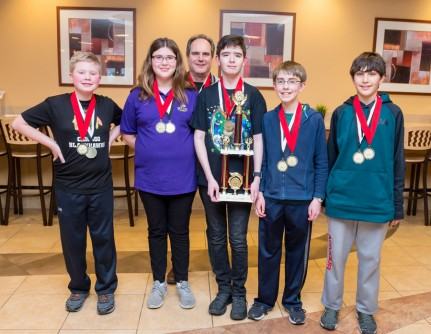 The Hubble Middle School team won both the design and race awards at the annual Electric Car Competition, co-sponsored by Argonne and CNH Industrial, on March 17.