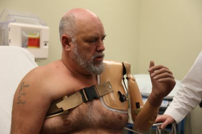 Newswise: Greenville Man Fitted for Robotic Arm Controlled by Thought