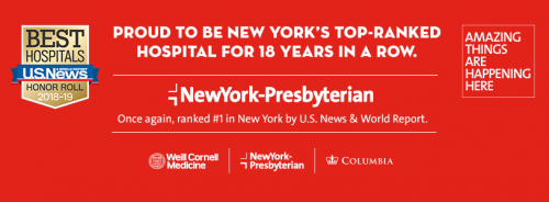 "Newswise: NewYork-Presbyterian Remains New York's #1 Hospital in U.S. News & World Report's ""Best Hospitals"" Survey"