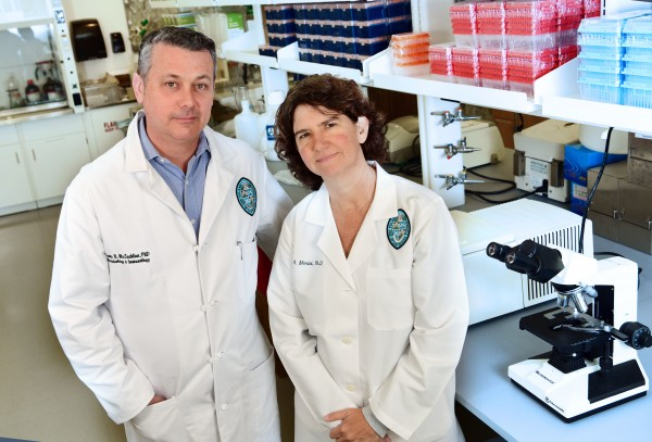 James McLachlan and Lisa Morici, associate professors of microbiology and immunology at Tulane University School of Medicine.