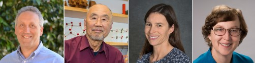 Berkeley Lab researchers Allen Goldstein (left), Sung-Hou Kim, Susannah Tringe, and Katherine Yelick have been named Fellows of the American Association for the Advancement of Science (AAAS).