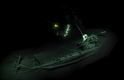 Newswise: Anglo-Bulgarian expedition finds evidence of the world's 'Oldest Intact Shipwreck'