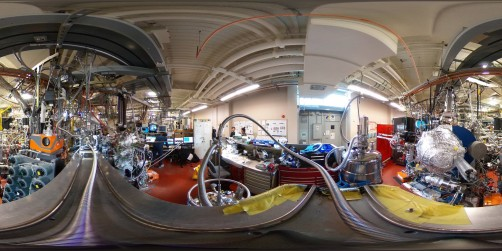 A 360-degree panoramic image of Beamline 10.0.1.